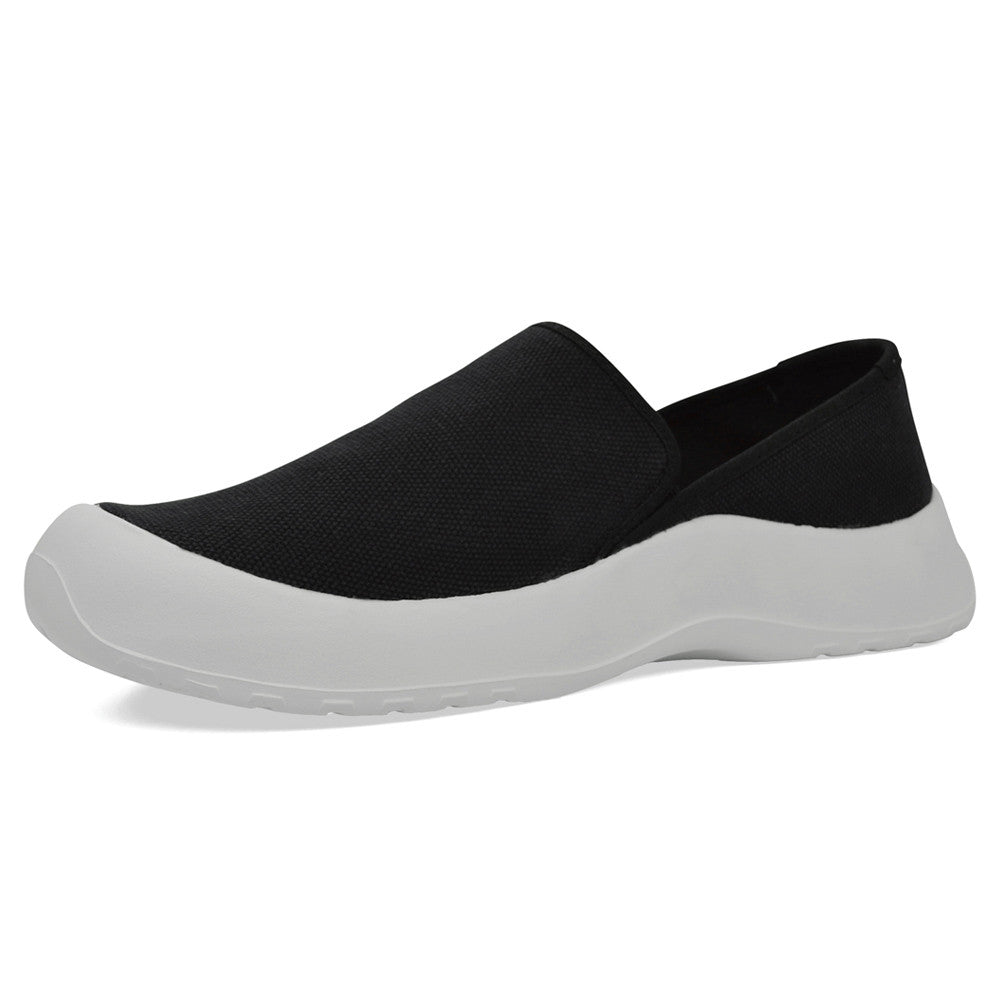 SOFTSCIENCE Unisex Drift Canvas Slip On Black and White Casual Shoes (UC0001BLW)