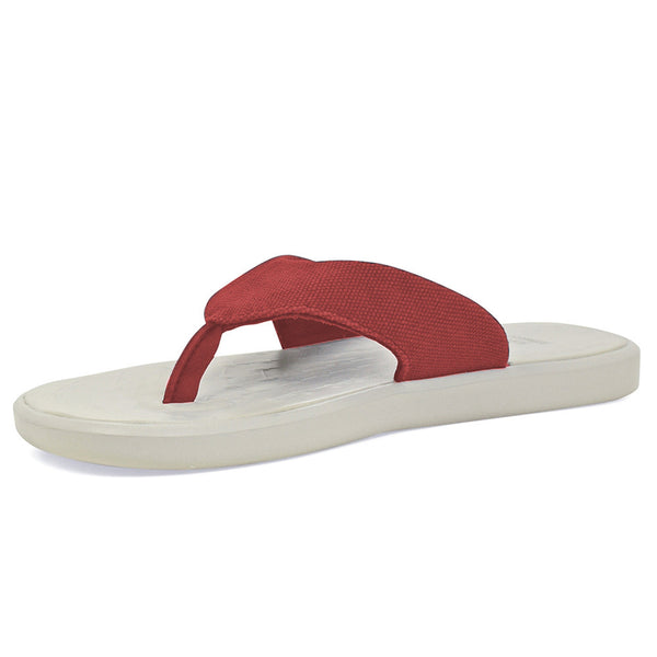 9aa18341d04c8 SOFTSCIENCE Unisex Skiff 2.0 Canvas Red Flip Flops (UC0043RED)
