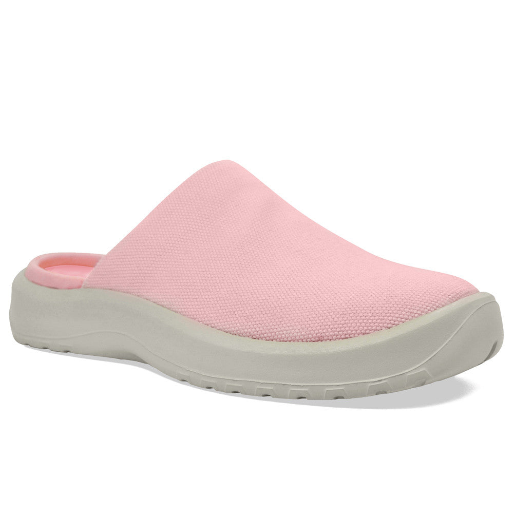 SOFTSCIENCE Womens Daisy Canvas Light Pink Clogs (WC0031LPK)