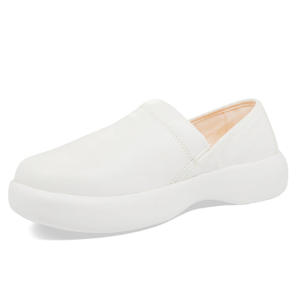 SOFTSCIENCE Womens Pro Slip-On PU White Work Shoes (WW0017WHT)