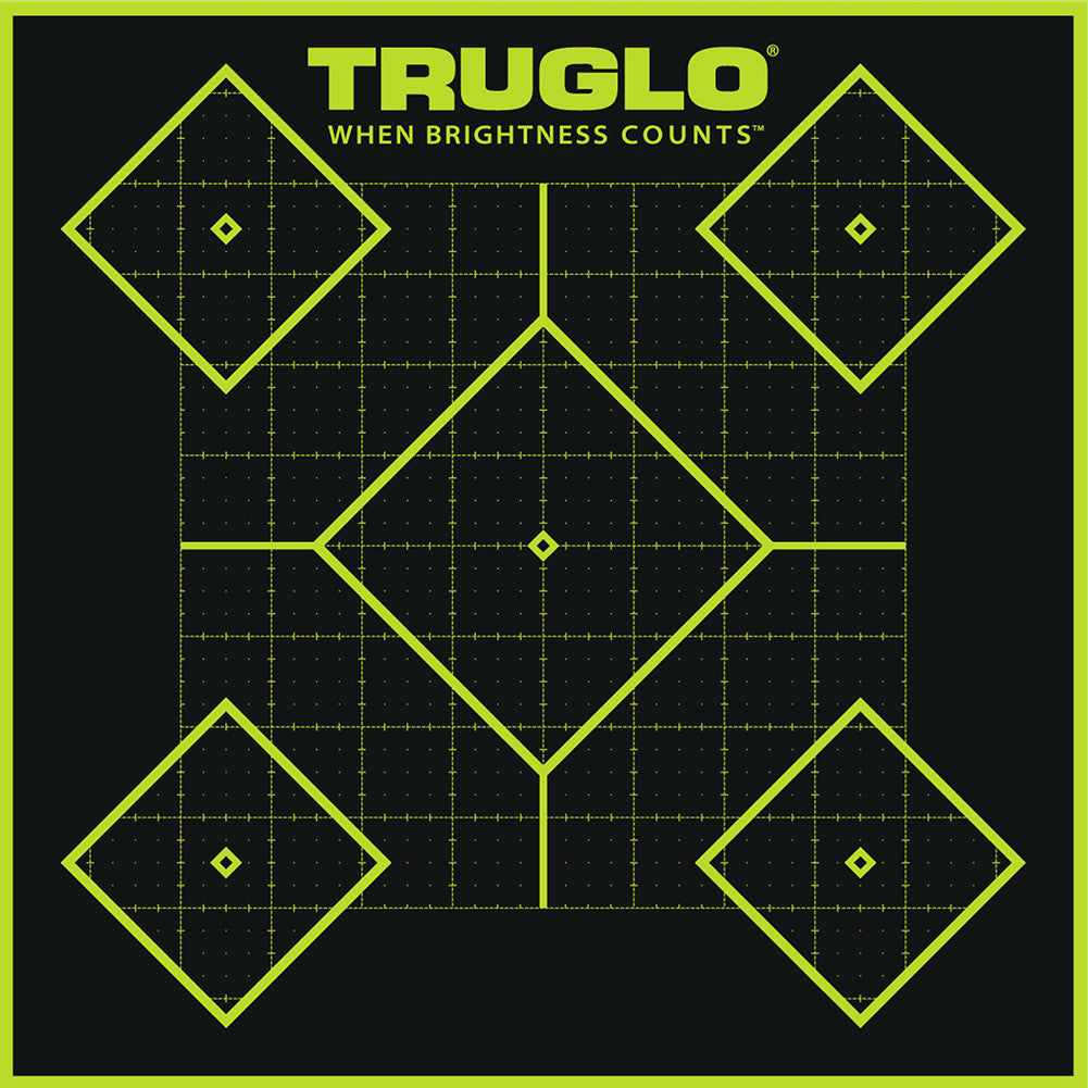 TRUGLO Tru-See 12 Pack of 5-Diamond 12x18 Splatter Targets (TG14A12)