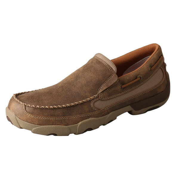 TWISTED X Mens Slip-on Driving Bomber Moccasins (MDMS002)