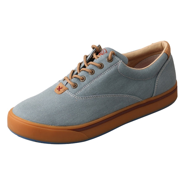 TWISTED X Mens Hooey Lopers Blue Canvas Shoe (MHYC002)