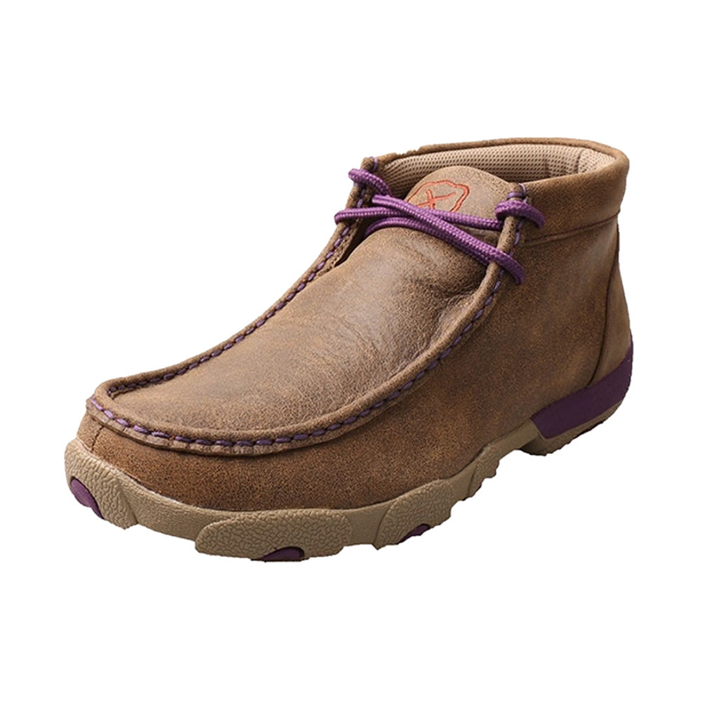 TWISTED X Womens Driving Bomber/Purple Moccasins (WDM0015)