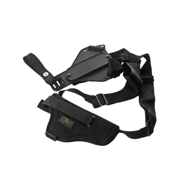 UNCLE MIKES Sidekick 8.5in Large Revolver RH Black Vertical Shoulder Holster (8304-1)