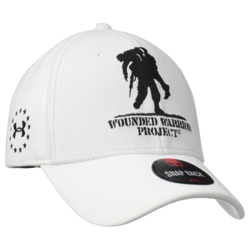 UNDER ARMOUR 1251960-100 Mens WWP White Snapback Cap