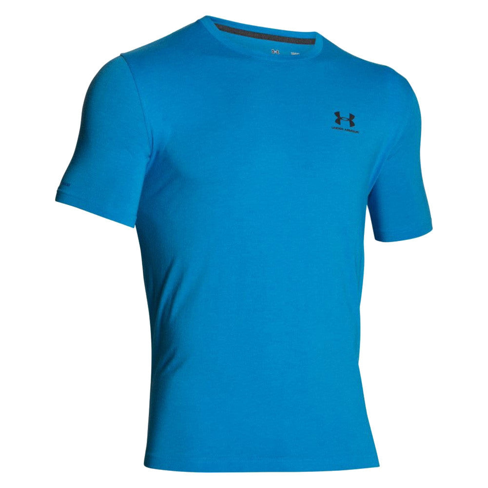 UNDER ARMOUR 1257616-428 Mens CC Left Chest Lockup Electric Blue Shirt