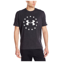 UNDER ARMOUR 1268759-001 Mens Black Freedom T-Shirt