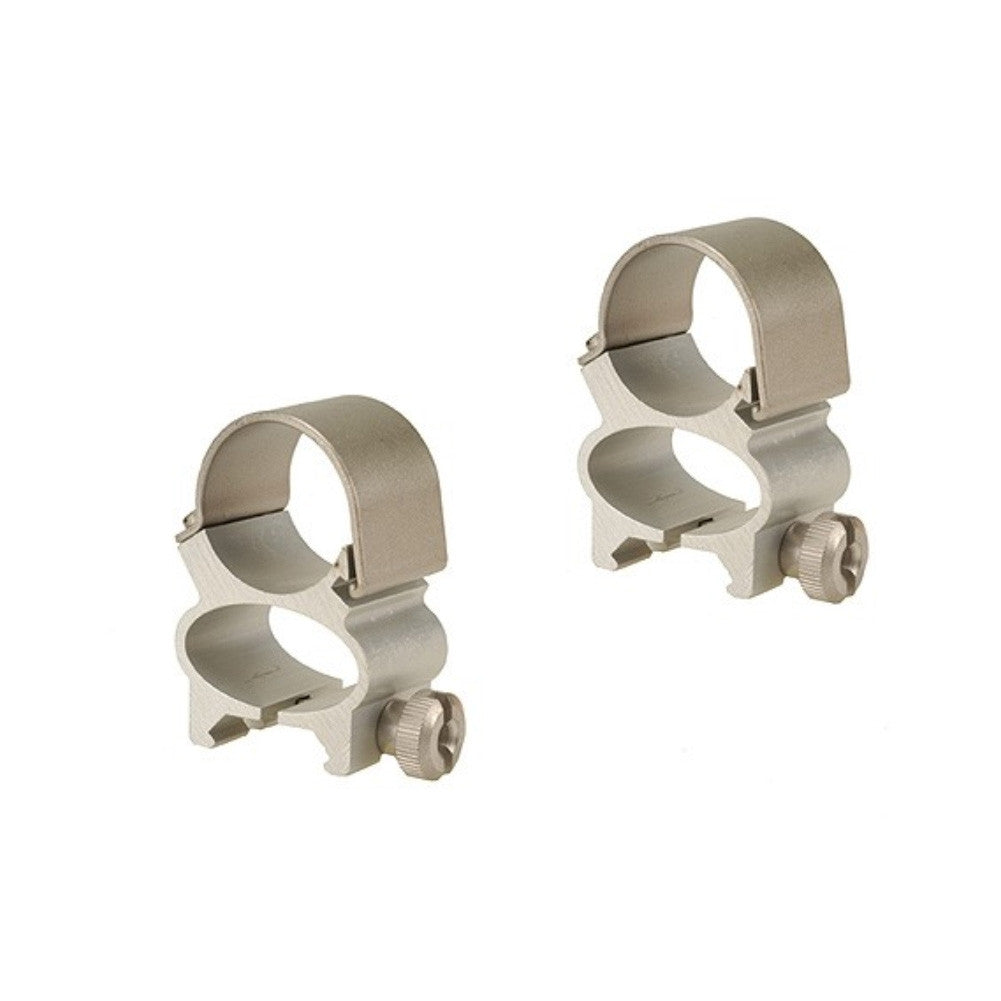 WEAVER 49522 See-Thru 1in Silver Scope Rings
