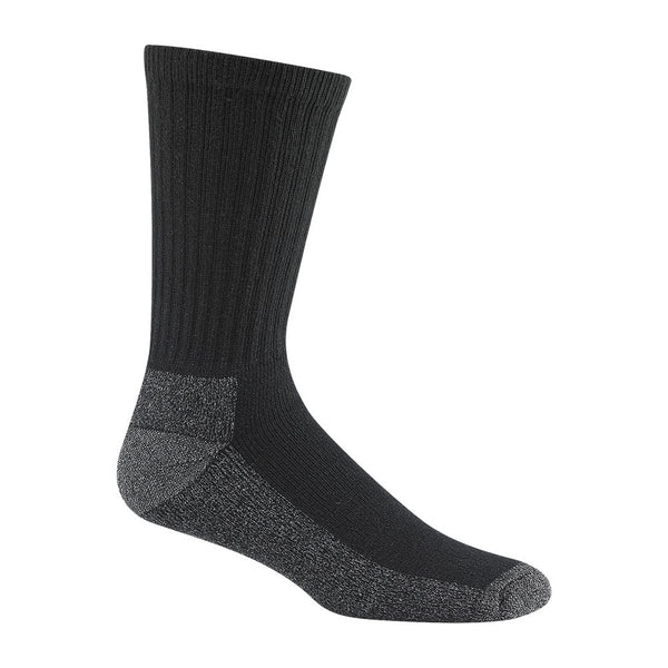 WIGWAM At Work Crew 3 Pack Black Socks (S1221-052)