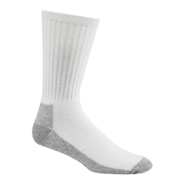 WIGWAM At Work Crew 3 Pack White/Sweatshirt Grey Lt Socks (S1221-44H)