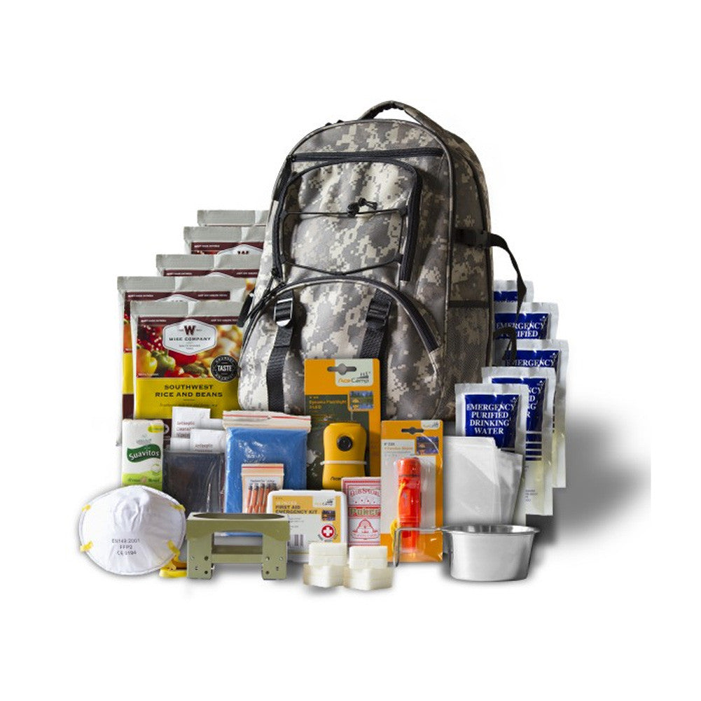 WISE COMPANY 5 Day Emergency Survival Camo Backpack (01-622GSGCAMO)