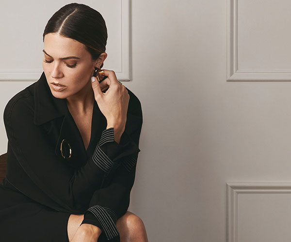 Mandy Moore In Our FW18 Draped Trench Coat