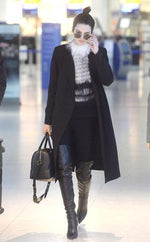 Kendall Jenner Wears Yigal Azrouël While Traveling to Heathrow Airport