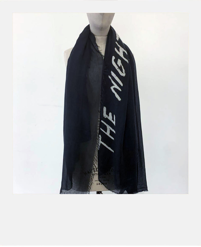 """The Night You Left"" Cashmere Modal Scarf"