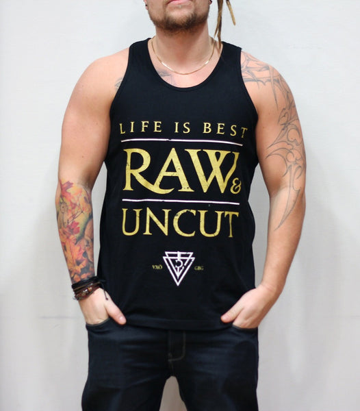 "Tank: ""Raw & Uncut"" (Black)"