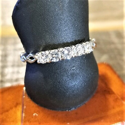 Ready to ship twisted diamond wedding band in 14k white gold
