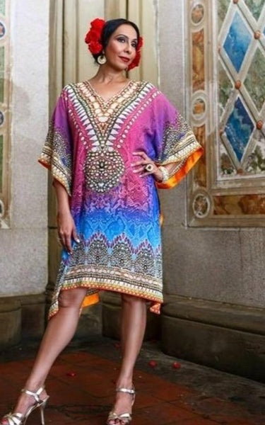 Exotic Regal Digital Print crepe Tunic- SOLD OUT