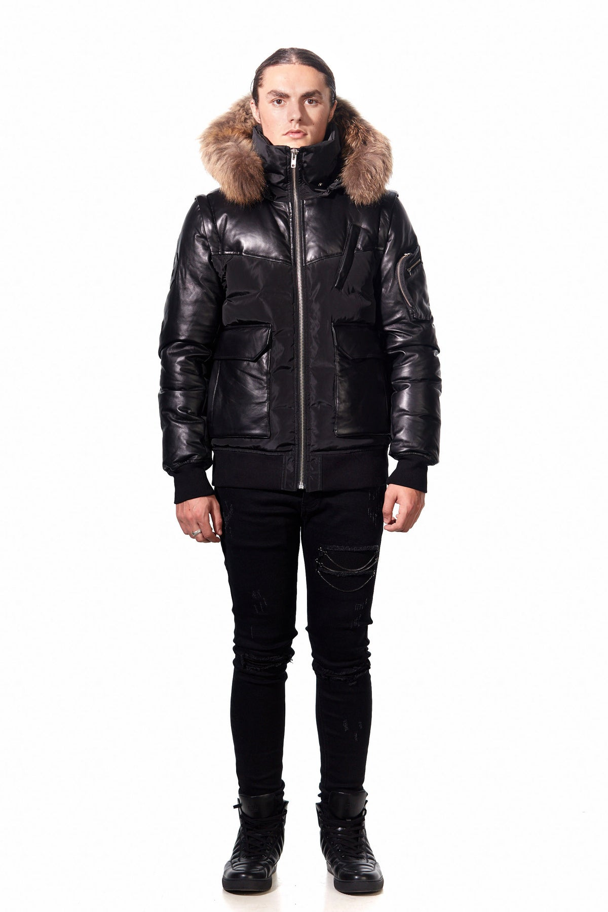 COBALT 2 in 1 LEATHER DOWN JACKET