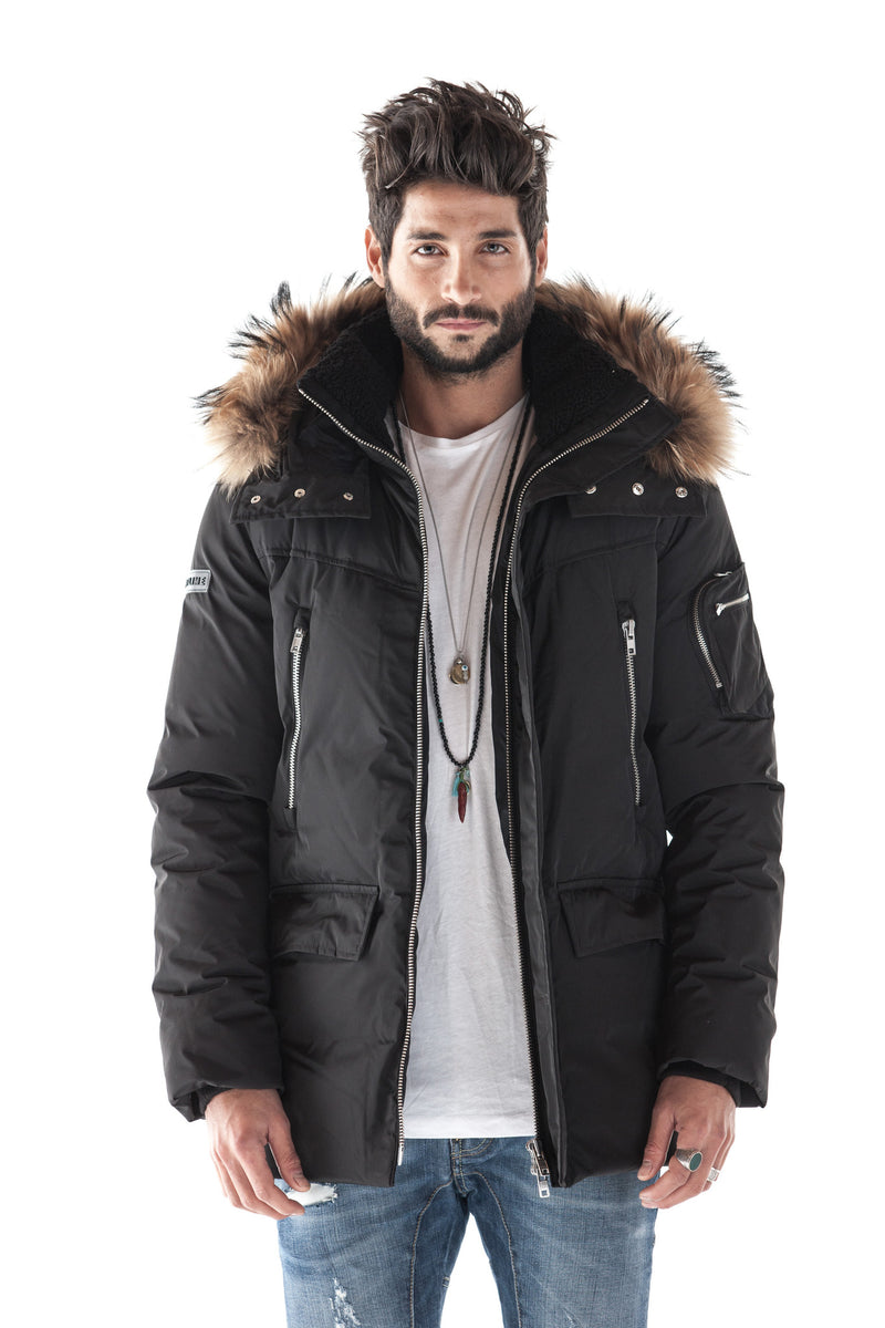 CAESIUM BLACK DOWN PARKA
