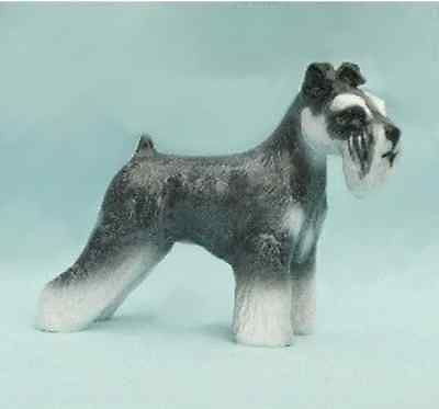 Ron Hevener Collectible Schnauzer Dog Figurine Natural Ear