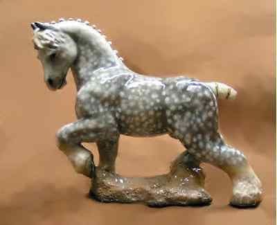 Hevener Collectible Dapple Grey Work Horse Figurine