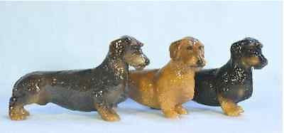 Hevener Collectible Wire Haired Dachshund Dog Figurine