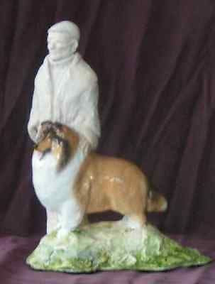 Hevener Collectible Collie Dog and Master Collectible Figurine