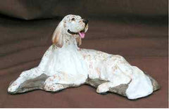 Ron Collectible English Setter Dog Figurine