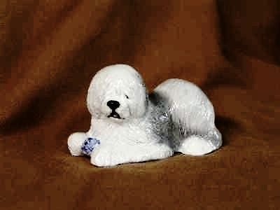 Ron Hevener Family Dog Figurine For Old English Sheepdog Lovers
