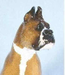 Ron Hevener Family Dog Figurine For Boxer Lovers (Cropped) -- What Color Is Yours?