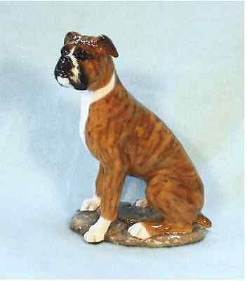 Ron Hevener Family Dog Figurine For Boxer Lovers (Natural Ears) -- What Color Is Yours?