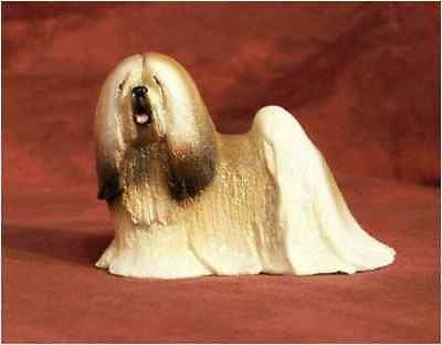 Ron Hevener Family Dog Figurine For Lhasa Apso Lovers -- What Color Is Yours?