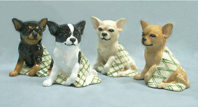 Ron Hevener Family Dog Figurine For Chihuahua Lovers -- What Color Is Yours?