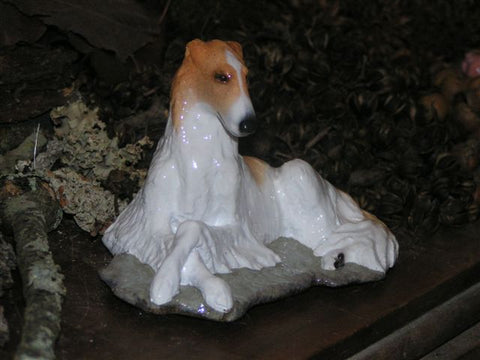 Ron Hevener Family Dog Figurine For Borzoi Lovers -- What Color Is Yours?