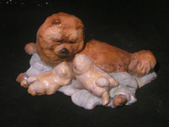 "Hevener Collectible Chow Chow ""Face of Love""  Dog Figurine"
