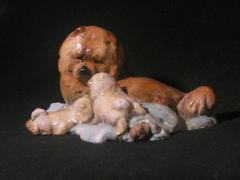 Ron Hevener Family Dog Figurine For Chow Lovers -- What Color Is Yours?