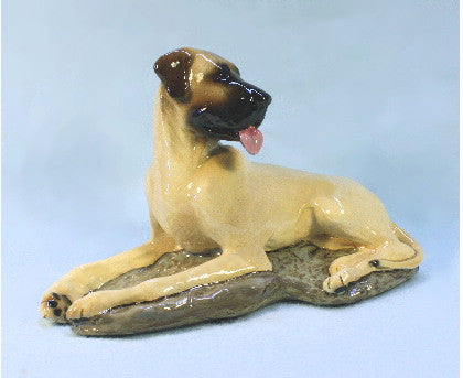 Ron Hevener Collectible Great Dane Dog Figurine Natural Ears
