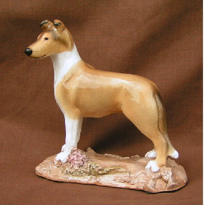 Hevener Collectible Smooth Collie Dog Figurine (Sable & White)