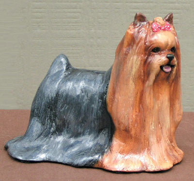 Ron Hevener Family Dog Figurine For Yorkie Lovers