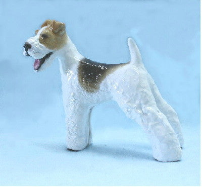 Hevener Collectible Wire Haired Fox Terrier Dog Figurine