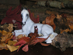 Ron Hevener Arabian Mare and Foal Collectible Figurine