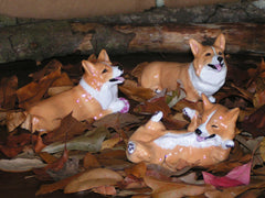 Ron Hevener Collectible Pembroke Welsh Corgis Limited Edition Set of 3