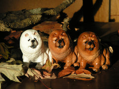 Ron Hevener Family Dog Figurine For Chow Chow Lovers -- What Color Is Yours?