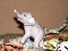 Hevener Baby Elephant Figurine Collectible