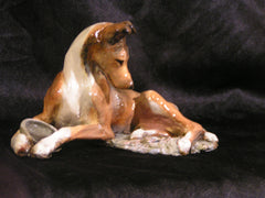 Ron Hevener Collectible Smooth Collie Dog Figurine -- Sable