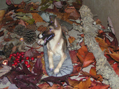 Ron Hevener Family Dog Figurine For German Shepherd Lovers -- What Color Is Yours?