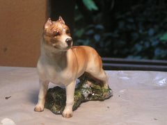 Ron Hevener Family Dog Figurine For Am Staff Lovers -- What Color Is Yours?