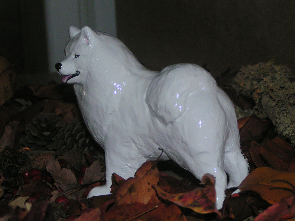Hevener Collectible Samoyed Dog Figurine