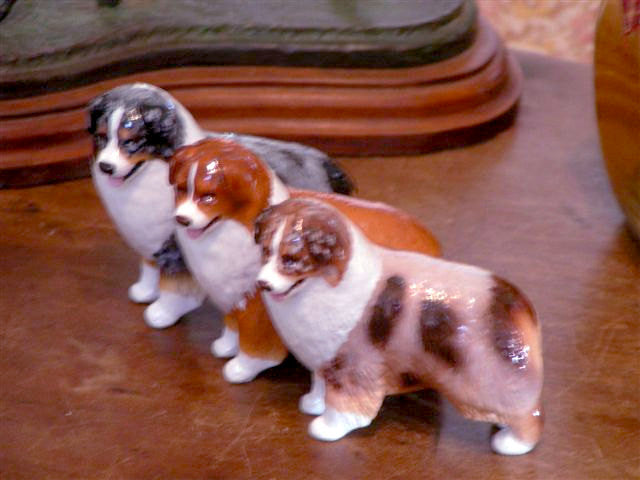 Hevener Collectible Australian Shepherd Dog Figurine (Photo shows color variety)